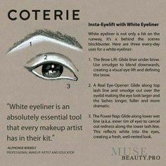 eyelift with white eyeliner