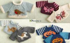 Вязание спицами свитеров для кукол. Схемы (6) (700x433, 260Kb)