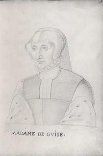 Jean, Follower of, c.1564 Clouet (16th Century), Antoinette de Bourbon, duchesse de Guise