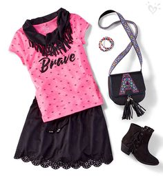 Add extra fab to her school outfit. Go for pops of color, soft faux suede, fun fringe and eye catching print!