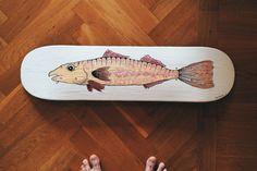 Crab Art, Fisher, Skateboard, Fantasy, Skateboarding, Skate Board, Fantasy Books, Fantasia, Skateboards