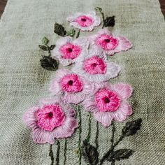 Bullion Embroidery, Simple Embroidery, Silk Ribbon Embroidery, Embroidery Stitches, Embroidery Patterns, Hand Embroidery, Embroidery Suits Design, Flower Embroidery Designs, Thread Jewellery