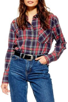 What to Wear When You Don't Know What to Wear - 10 Easy Outfit Formulas Using What's in Your Closet - Straight A Style Plaid Shirt Outfits, Women's Summer Fashion, Red Plaid, Simple Outfits, What To Wear, Topshop, Clothes For Women, Womens Fashion, Liana Liberato