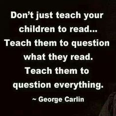 Critical thinking-- Just because it is in print doesn't make it true!