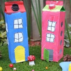 Milk Carton Houses