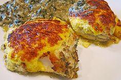 Gegrillte Kabeljau Koteletts mit Krabben-Käse Krust #lowcarb #fish