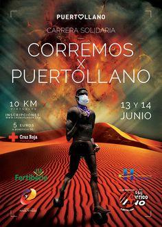 Diseño de Cartel Carrera Solidaria, Red Cross, Sports