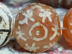 Ancient pyu etched carnelian bead