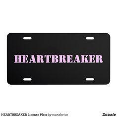 HEARTBREAKER License Plate