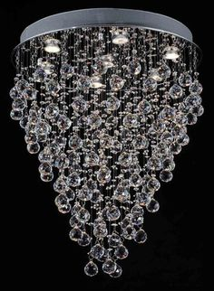 Silver DRUM SHADE CRYSTAL CEILING CHANDELIER PENDANT LIGHT FIXTURE LIGHTING LAMP