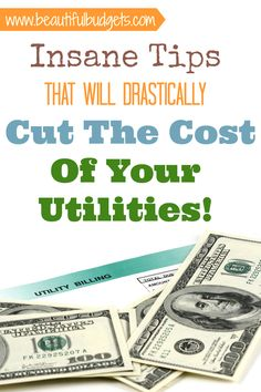Insane Tips That Will Drastically Cut The Cost Of Your Utilities! These are ALSO resources that I have used to help me save money on my utility bills. And don't worry - These tips and tricks are quite easy and effortless. But the rewarding outcome, well that's a different story!