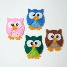 Felt Owls, Felt Birds, Felt Animals, Felt Christmas, Christmas Crafts, Sewing Crafts, Sewing Projects, Felt Crafts Patterns, Felt Bookmark