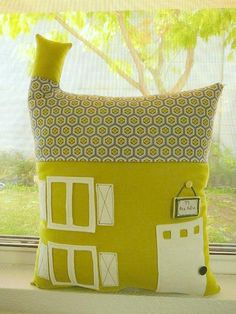 house pillow with chimney.  I'd like to do a pink one for my daughter.