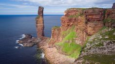 Man of Hoy. Cycling and walking holiday in Scotland. Click on the image for Macs Adventure.
