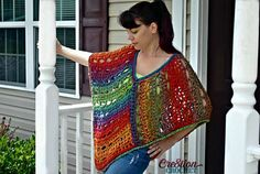In this Poncho Palooza pattern collection you will find different styles of ponchos for you that will surely be a great addition to your wardrobe.