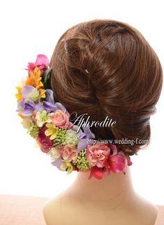 ウエディングブーケ専門ショップ・アフロディーテ(Wedding Bouquet Aphrodite)  ひまわりのヘッドドレス「サイドから後部」