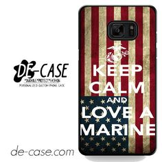 Keep Calm And Love A Marine Flag DEAL-6123 Samsung Phonecase Cover For Samsung Galaxy Note 7