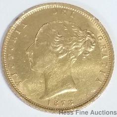 1873 Queen Victoria Half Sovereign Australia Gold Coin Regina