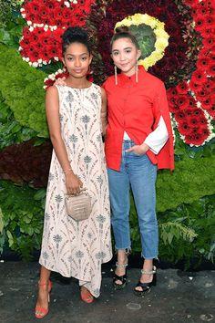 Yara Shahidi and Rowan Blanchard