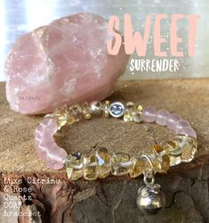 Surrender to the energy of sweet Rose Quartz & Citrine. This OOAK bracelet uniquely showcases these two luxe gems so that you can experience an open heart, an abundance of love, joy & happiness all around you. Adorned with a Hill Tribe Angel Caller bell, now you can call in your LOVE Angels! Luxury jewelry | handcrafted jewelry | NJ artisan | zen jewelz | ZenJen