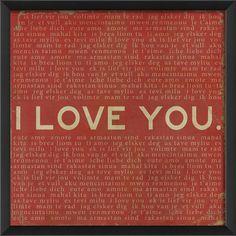 Blueprint Artwork I Love You Framed Textual Art | AllModern