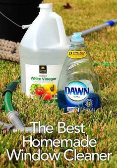 This is the best homemade window cleaner for washing exterior windows. Works like a charm!