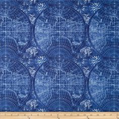 Vintage America Navigation Ivory from @fabricdotcom  From Robert Kaufman, this cotton print fabric is perfect for quilting, apparel and home decor accents. Colors include white and shades of blue.