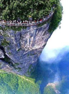 Walkway in #China.. Dare you..