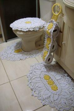 jogo de banheiro em croche a pronta entrega