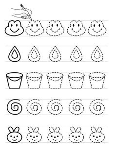 Preschool Writing, Preschool Learning Activities, Free Preschool, Activities For Kids, Tracing Worksheets, Preschool Worksheets, Hindi Alphabet, Writing Folders, Free Printable Coloring Pages