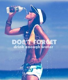 Drink lots of water - sometimes more than half your sugar and calorie intake is from fizzy drinks!!!