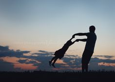 dad and daughter silhouette - Bing Images