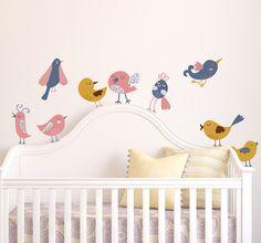 Naklejka dla dzieci rożne ptaki