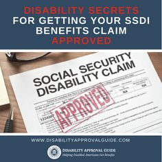 Getting approved for disability benefits isn't easy, especially if your condition isn't visibly severe or terminal. But if your disability makes you unable to work, you can apply for benefits through the federal government's SSDI program. (SSDI stands for Social Security disability insurance, which includes monthly checks as well as Medicare after a mandatory two-year wait.) Learning how the system works and disability secrets for getting your claim approved are essential before you apply.