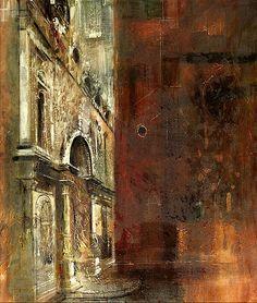"""""""The Scuola di San Marco and S.S. Giovanni e Paolo"""" by John Piper (British, 1903-1992)"""