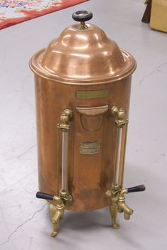 That could be enough coffee for me - do you want any?     Large vintage Copper Coffee Urn