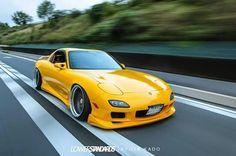 JDM Racecar and Automotive Apparel by JDMUnderground Tuner Cars, Jdm Cars, Japanese Sports Cars, Mazda Cars, Cars Usa, Yellow Car, Rx7, Japan Cars, Car Tuning