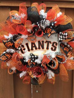 A personal favorite from my Etsy shop https://www.etsy.com/listing/222624670/san-francisco-giants-baseball-decomesh