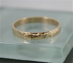 Hammered Wedding Band Solid Yellow or Rose Gold Recycled Gold Classic Men's or Women's Wedding Stacking Ring Shiny Finish Wedding Men, Wedding Bands, Gold Wedding, Or Rose, Rose Gold, Black Rings, White Gold, Engagement Rings, Etsy