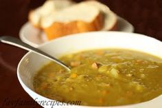 Crockpot Split Pea Soup from Favorite Family Recipes