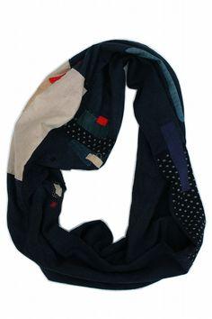 Japanese boro patchwork snood/antique cotton/indigo cotton/natural indigo dye/ranru norai kimono/288