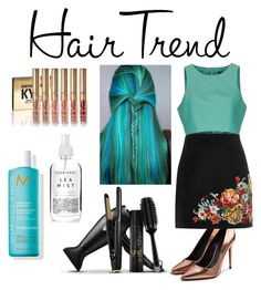 Teal + Bronze by parishi-bachkaniwala on Polyvore featuring polyvore beauty GHD Herbivore TIBI River Island Alexander Wang hairtrend rainbowhair