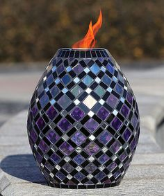 Look what I found on #zulily! Royal Mosaic Glass Firepot by  #zulilyfinds