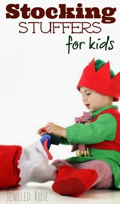 Over 100 stocking stuffer ideas for kids ~ So many great ideas & things I never thought of!