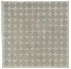 Eva Hesse. Untitled, 1967. graphite and ink wash on paper. 11 x 11 in. (29.2 x 29.8 cm.)
