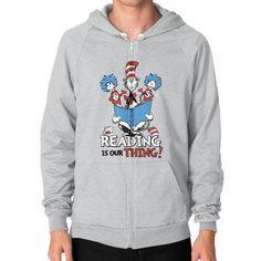 Read Across America Zip Hoodie (on man) Shirt