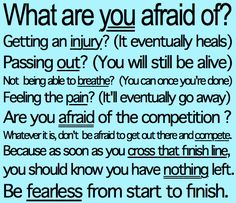 #running be fearless to start to finish