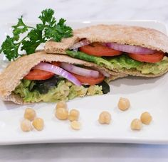 """224 Likes, 12 Comments - Hannah Hagler (@hannahhagler) on Instagram: """"Today's delicious and super healthy lunch... Chickpea & avocado pita sandwich (full recipe on the…"""""""