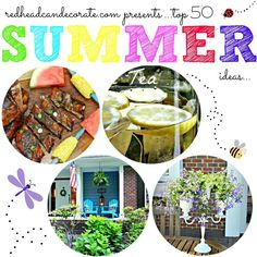 Top 50+ Blogger Summer Recipes, Decor & Crafts #allthingscreative #redheadcandecorate.com