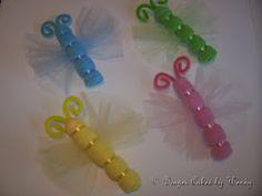 Washcloth butterflies - love them!